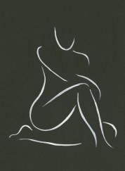 Nude on black
