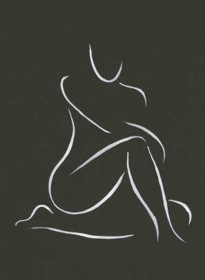 Nude on black